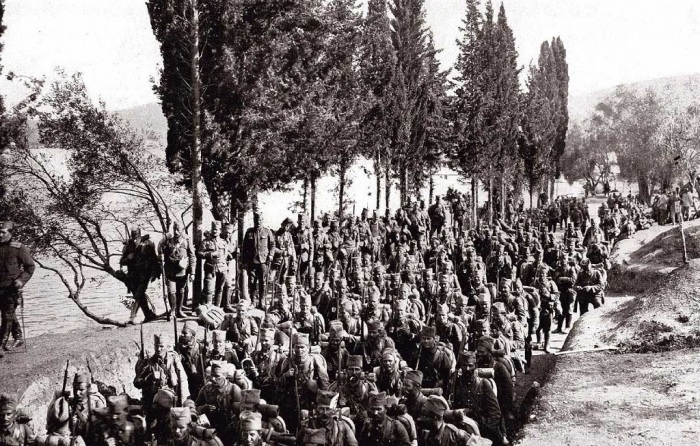 16.2. serbs troops in corfu