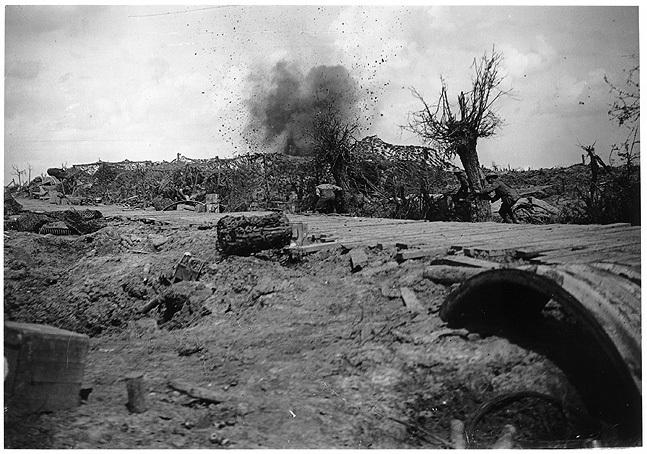20.2. 8 inch howitzer battery under fire  near Boesinghe