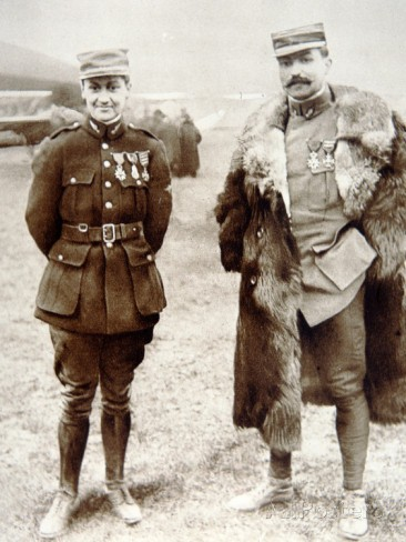 3.2.  air-ace-georges-guynemer-left-with-captain-brocard-5th-february-1916