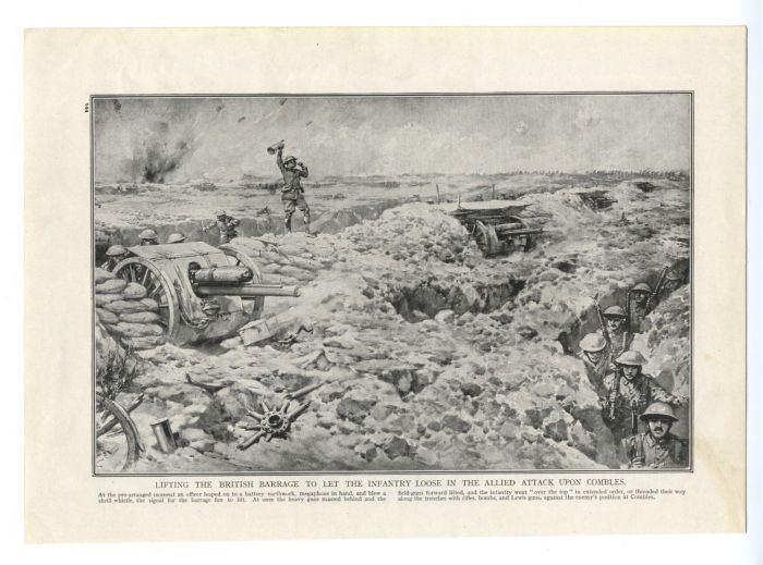 20.9aa combles-british-attack-field-guns-trenches-over-the-top