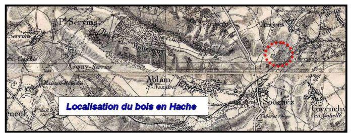 Bois en Hache map
