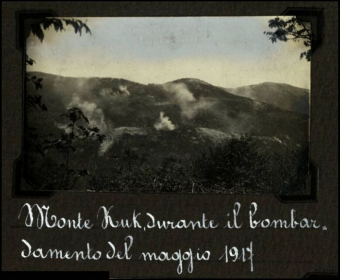 Monte Kuk bombardment May 1917