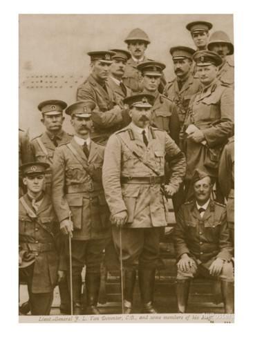 lieutenant-general-f-l-van-deventer-c-b-and-some-members-of-his-staff-1914-19