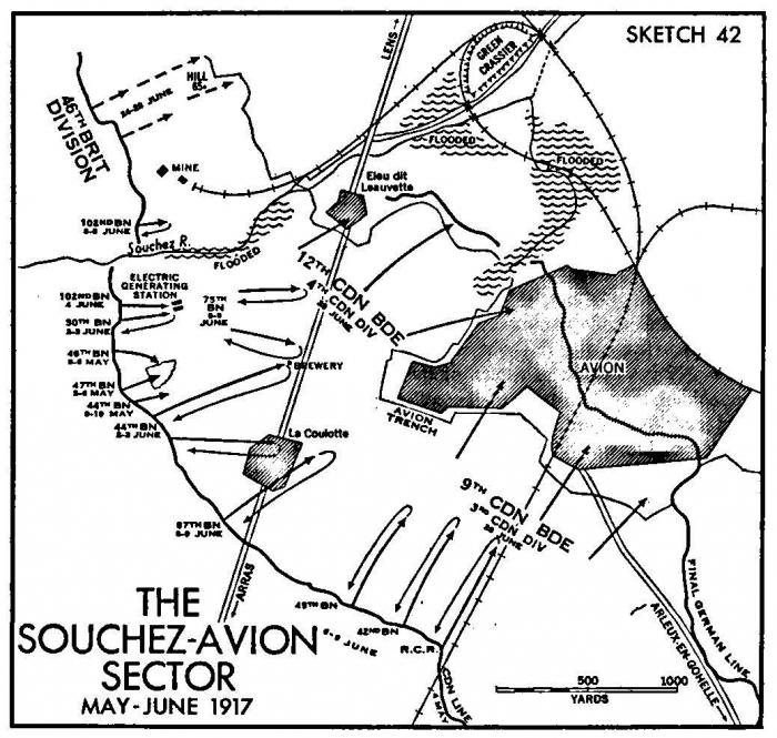 Avion map june 1917