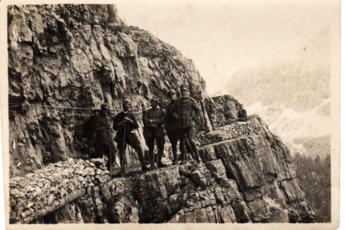 Italian officers in Dolomites
