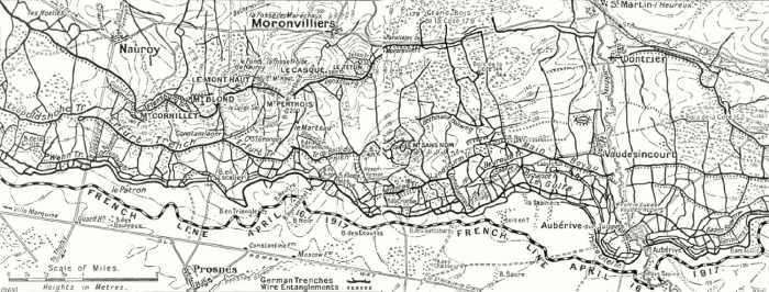 Mont Blond map 1917