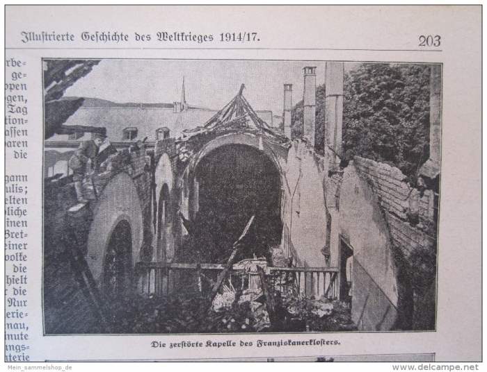 Trier air raid - destroyed chapelle