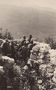 WWI_-_Monte_Corno_-_Italian_Alpini_in_the_frontline_trenches