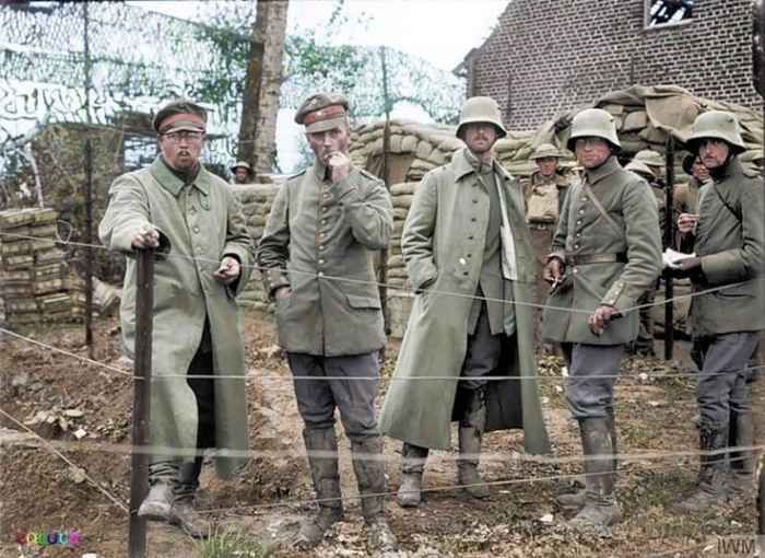 A1 german prisoners colourized