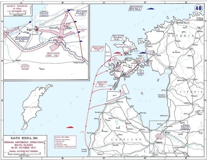B1 Riga Map oct 1917