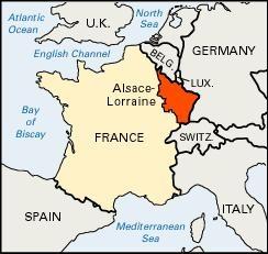 B2 Alsace - Lorraine map