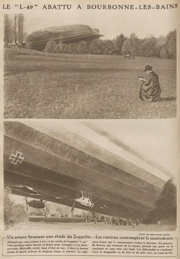 C12 Chute_du_dirigeable_allemand_L-49_a_Bourbonne-les-Bains_en_1917