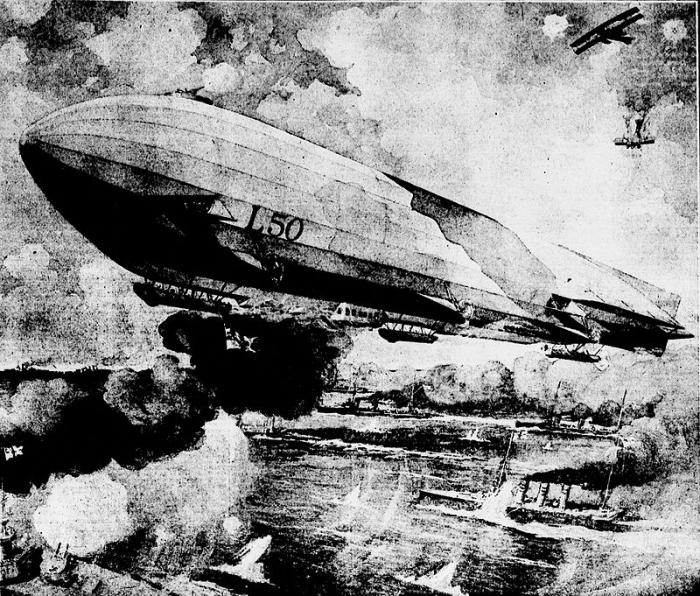 C4 German_Zeppelin_-_L_50_-_July_16_1916