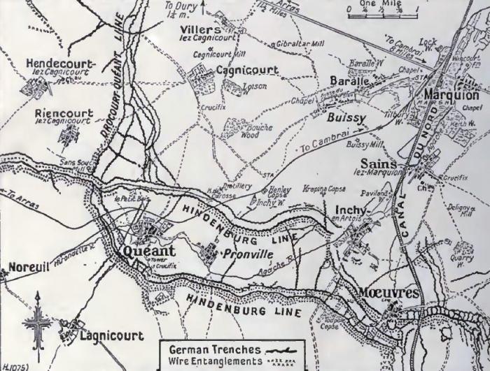 B1 Cambrai map