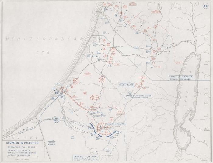 B1 Palestine map Fall 1917