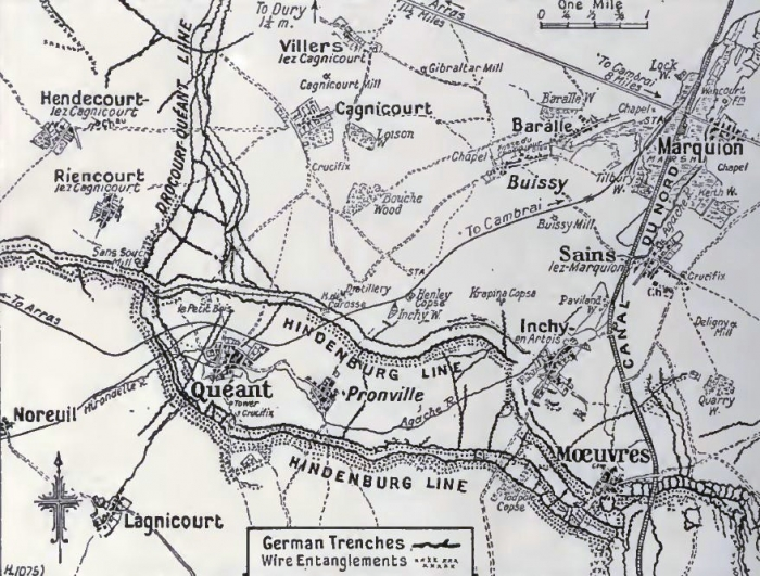 A1 Junction_of_Siegfried_and_Drocourt-Queant_lines,_1917-1918