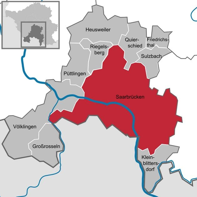 A1 Saarbrucken map