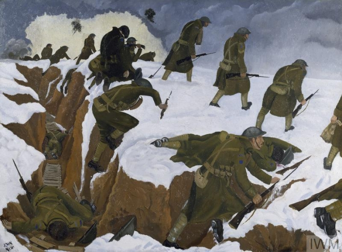 'Over The Top'. 1st Artists' Rifles at Marcoing, 30th December 1917