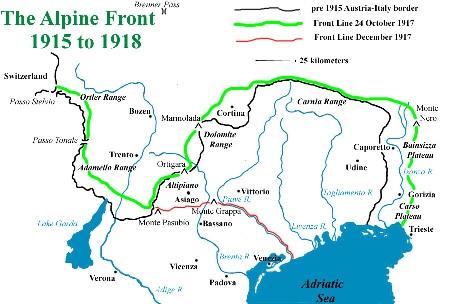 C2 Italian front map