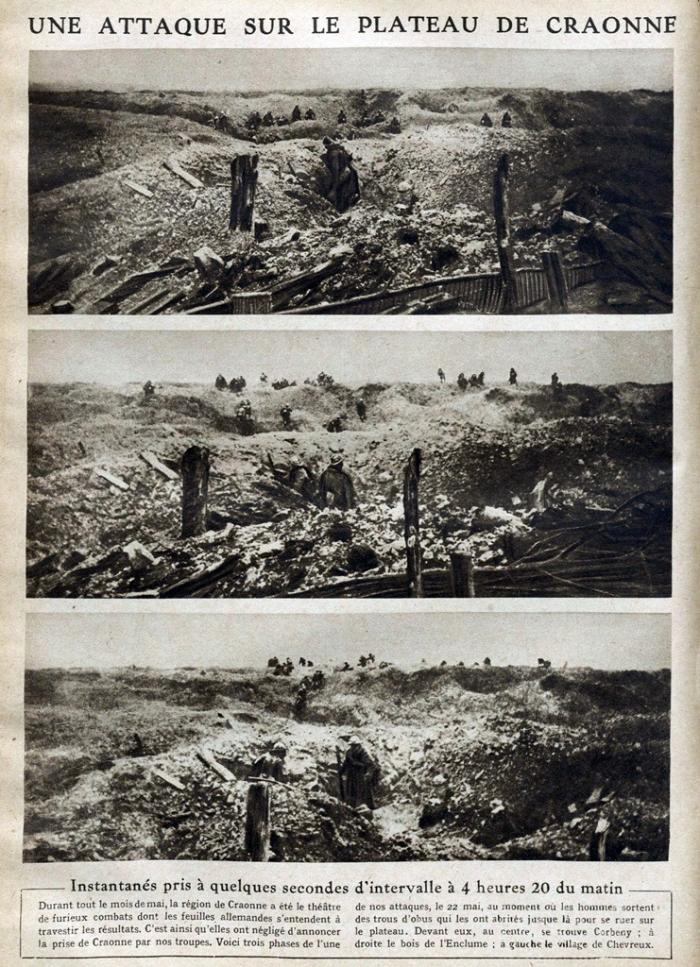 13.9.b Attaque_sur_le_plateau_de_Craonne_en_1917