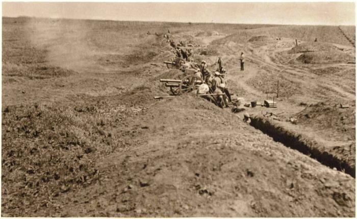 2.7 ZBOROV_CS_delostrelectvo_ostreluje_pozicie_nepriatela_2_7_1917