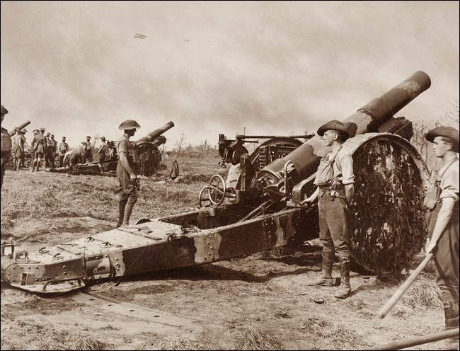 5.7a Battery of 8 inch Howitzers of Australian 54th Siege Artillery Battery, Western Front by