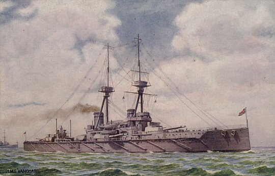 9.7.a HMS Vanguard postcard