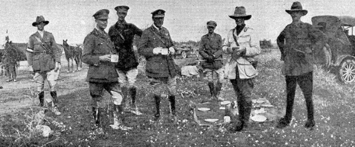 14.2b Allied_commanders_breakfast_after_the_capture_of_Jericho_1918