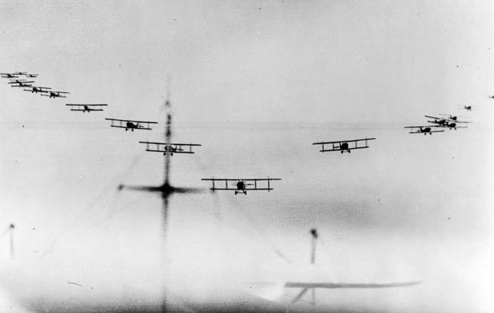 6.3a View-from-an-airplane-of-biplanes-flying-in-formation-ca.-1914-1918