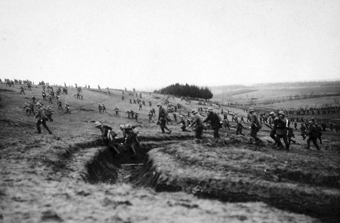 8.3a German troops cross a field