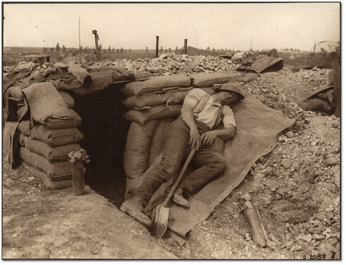 9.1.a A Canadian miner resting after a heavy night's work