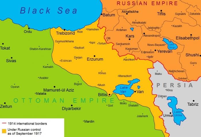 B1 Transcaucasia map
