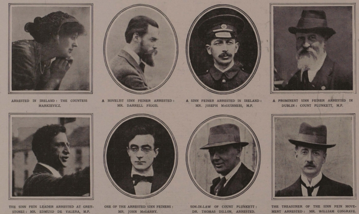 E1 Sinn Fein leaders May 1918