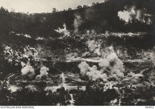 A1 Montello under bombardment