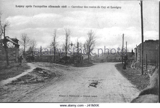 A1 lagny-calvaire-carrefour-cuy-lassigny-1918-j41mxk
