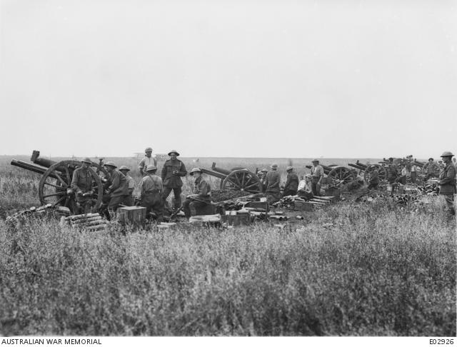 A2 Villers Bretonneux artillery