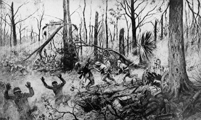 B2 colliers_1921_world_war_-_marines_in_belleau_wood_by_georges_scott