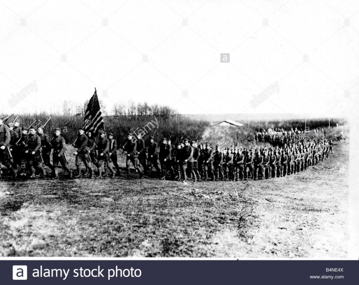World War One US troops