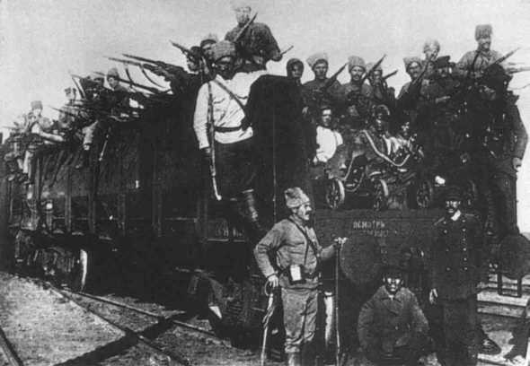 10.9c Kazan capture by the Reds, 1918