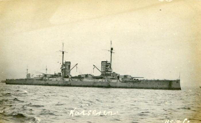 10.7c German Battleship  1918