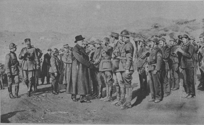 13.7a Venizelos inspects units at the Macedonian front, 1918