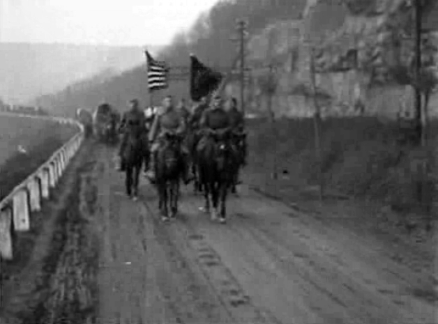 14.9a US troops at Trier along Mosel 1918
