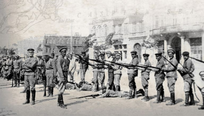 14.9c Armenians being drilled in Baku