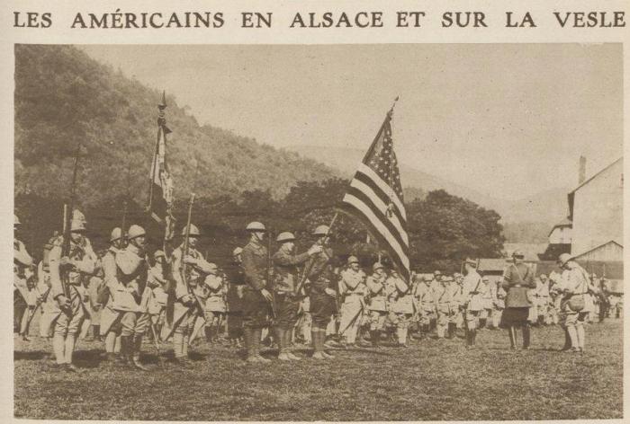 3.8a Les americainsen Alsaceetsur La Vesle 1918