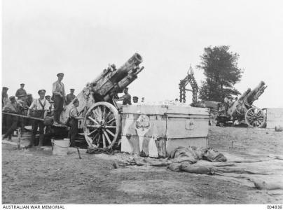 6.8aa 9.2 inch Howitzter used by the Artillery to support the Australian Troops at Morlancourt