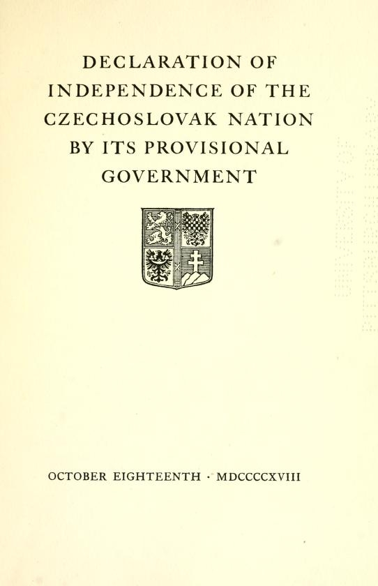 H1 Czechoslovak independence