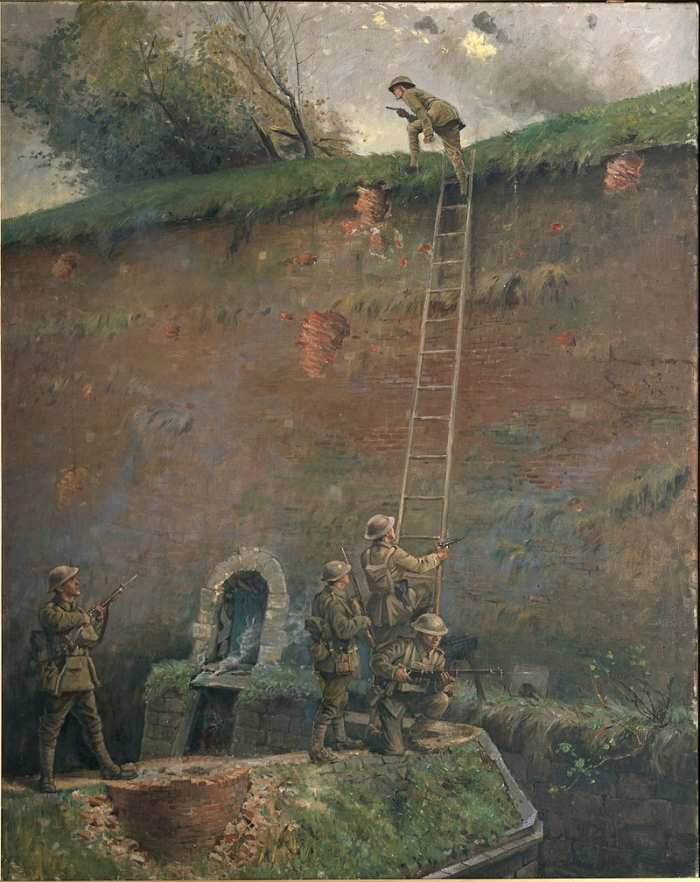 A1 George_Edmund_Butler_-The_scaling_of_the_walls_of_Le_Quesnoy