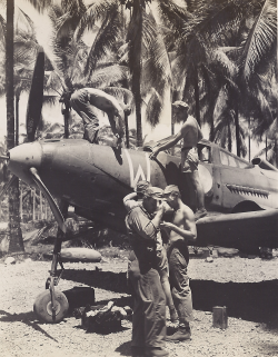 P-39 undergoing maintenance